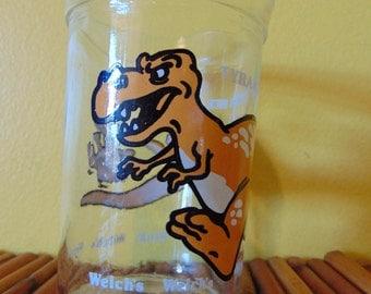 Tyrannosaurus Rex  Welch's Glass 1988  Anchor Hocking Glass   Jam/Jelly Glass