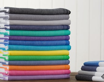 S A L E, Bold Turkish Towel, Peshtemal, Beach Towel, Hammam Towel, Bath Size, Hand Size, Guest Towel