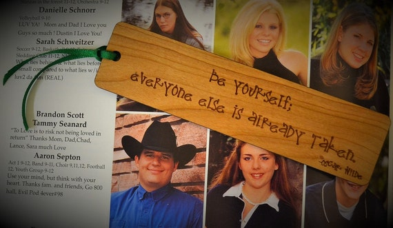INSPIRATIONAL BOOKMARKS: Choose from 11 quotes; see lists in photos for choices! Each one is engraved on cherry wood & can be personalized!