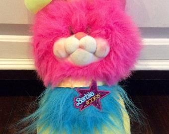 RARE 1986 Barbie and the Rockers Plush Kitty by Mattel, Barbie And The Rockers Stuffed Pets, Barbie Pets, Plush Rocker Cat, Barbie Cat