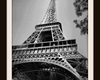 Paris Decor, Eiffel Tower, Fine Art Photography, Black and White, French Decor, Paris Photography, Home Decor, Wall Art, Canvas Print