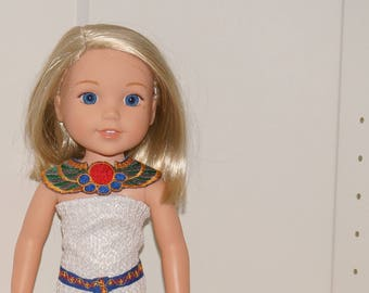 Wellie Wishers Egyptian doll outfit dress costume for Effner Little Darling 14 inch