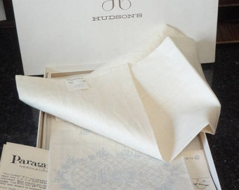 Paragon Needlecrafts Pair (2) of 100%  Linen  Drawn Hemstitch Guest Towels to Embroider