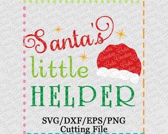 EXCLUSIVE SVG Santa's Helper Cutting File, Santa cut file, Christmas svg, Santa cutting file, Santa's helper svg, santa claus svg