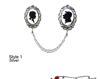 Ellie & Carl UP Disney Couple Sihlouette Sweater Clips / Pins - Disney Inspired
