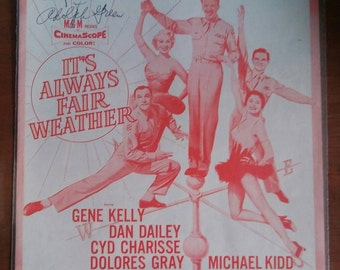 Betty Comden & Adolph Green Autographed Sheet Music for It's Always Fair Weather Starring Gene Kelly