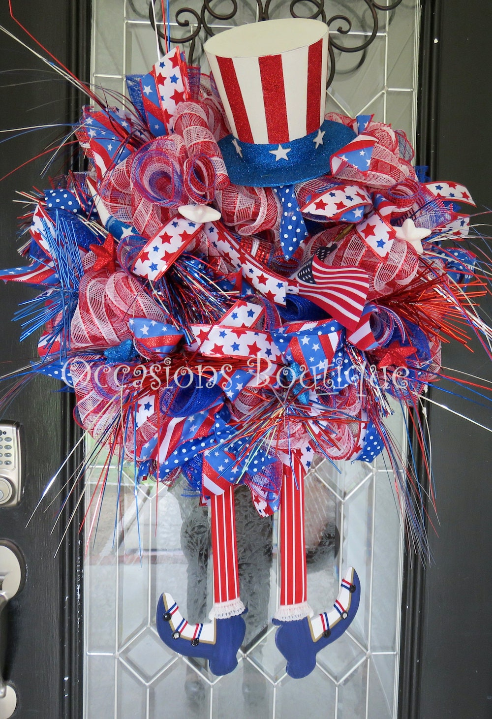 Summer Wreath July 4th Wreath Fourth Of July Decoration