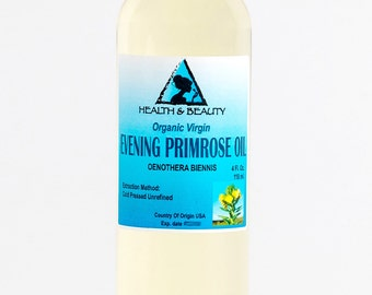 4 oz EVENING PRIMROSE OIL Organic Carrier Cold Pressed Unrefined Virgin Raw Pure