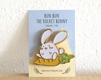 Bun Bun the Rocket Bunny Pin