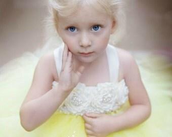 Yellow Flower Girl Dress, Yellow Tutu Dress, Yellow Tulle Dress, Yellow Dress, Yellow Wedding, Yellow