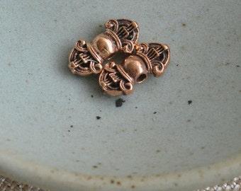 Tibetan Mala Dorje Counter Beads,Spacer Beads,Vajra,Bronze Dorje Beads,Tibetan Prayer Beads,Mala Making,Mala Prayer Beads,Pairs,AK15-090