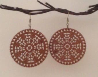 Copper Filigree Earrings