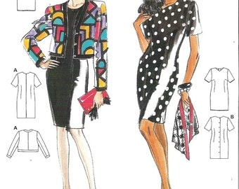 Burda Sewing Pattern 4684, Misses Dress and Jacket, Sizes 8, 10, 12, 14 Bust 34, 36, 38, 40