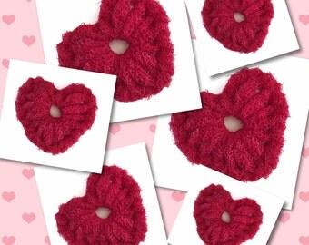 Dish Scrubbies, 3 Valentine Crochet Heart  Nylon Netting Scrubbers,  Heart Pot/Dish Scrubber, Housewarming, Kitchen Decor..Gift For Her