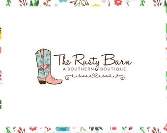 cowboy boot logo etsy