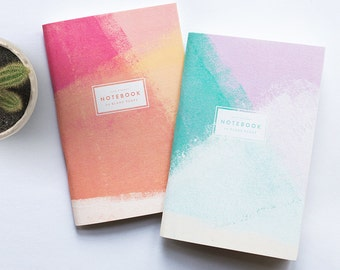 Set Of Two Painter Blank Pocket Notebooks
