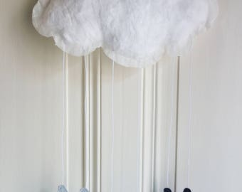 Modern Cloud  Mobile Personalized with your baby's name.