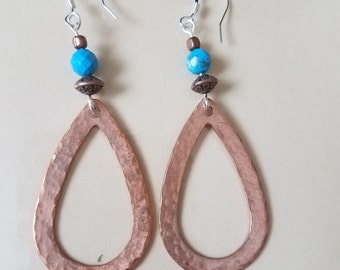 Copper with Turquoise Earrings