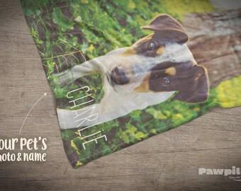 Custom Memorial Pet Blanket,  Dog Throw Blanket, Custom Dog Blanket, Custom Pet Blanket, Pet Loss Gift, Photo Pet Keepsake Pet Memorial, Dog
