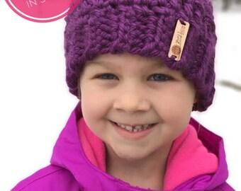 FREE SHIPPING on Girl's Messy Bun Hat - Girl's Bun Hat -  Little Girl Ponytail Hat - Bun Beanie - Valentine Gift - Girl's Ponytail Ha