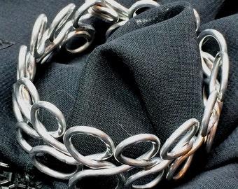 Eternity Coiled Non-Tarnish Aluminum Cuff Bracelet