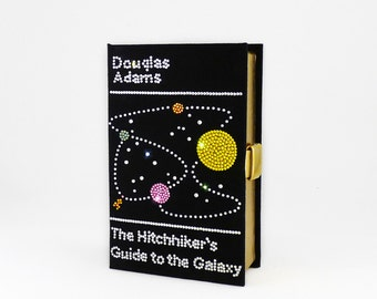 Swarovski Crystal Book Clutch - A Hitchhiker's Guide to the Galaxy