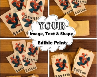 Custom cookie toppers,edible, custom logo,cupcake, personalized wafer paper,personalized cookie topper,logo cookie topper,edible image