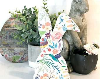 Wood Easter Bunny - Easter Bunny - Easter Decorations - Spring Decorations - Spring Decor - Easter Decor - Easter Gift - Easter Gift Ideas