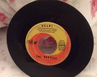 1965 The Beatles Help I'm Down 45 Record