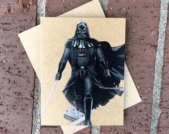 Star Wars - Darth Vader Light Saber Comic Book Greeting Card (Blank)