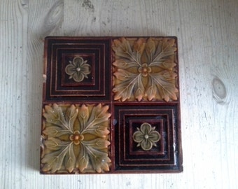 Victorian tile from the late nineteenth century
