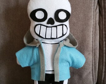 Handmade Sans plush (unofficial) from Undertale,soft plushie,Sans plush,Undertale plush,sans stuffed toy,geek plush,sans soft plushie,sans