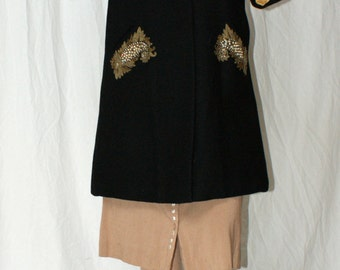 RESERVED SALE 30% OFF 1940s/1950s Swing Coat with Glitz