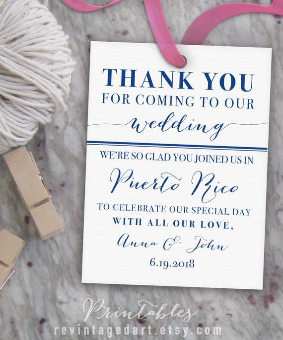 Wedding Gift Bag Thank You Tags : ... Bag Tags, Wedding Favor Tags, Thank You Gift Tags, Destination Wedding