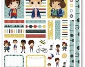 Strangers Decorating Kit / Weekly Spread Planner Stickers for Erin Condren Planner, Filofax, Plum Paper