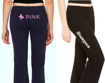 Pink Stampers Team Spandex Fitness Pants w/bling