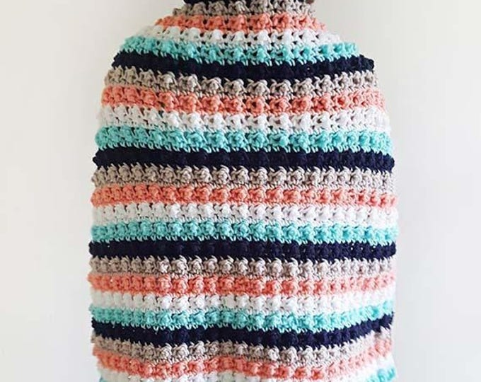 PDF Crochet Pattern - Ever So Striped Blanket