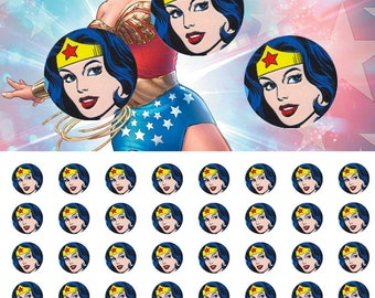 Marvel Wonder Woman 12mm - 1/2 inch Images 4x6 Digital Collage INSTANT DOWNLOAD