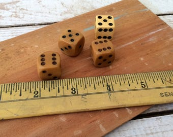 Vintage Bakelite Dice, set of 4