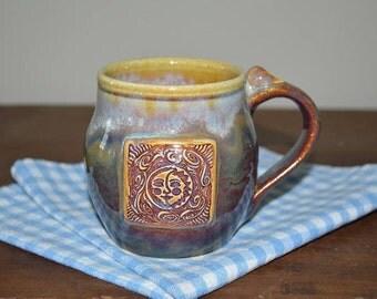 mug, pottery mug, drinking mug, drinkware, coffee mug, tea cup, soup mug, sun