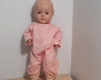 Madame Alexander Composition Doll, Dionne Quintuplet, 14 inch, Vintage Toddler Baby Doll