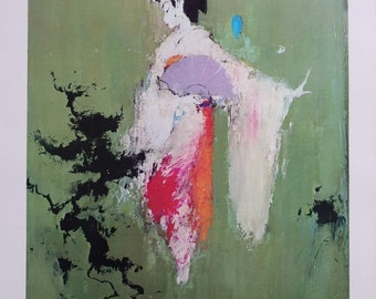 1966 SAS Airlines Poster (Geisha Dance) - Original Vintage Poster