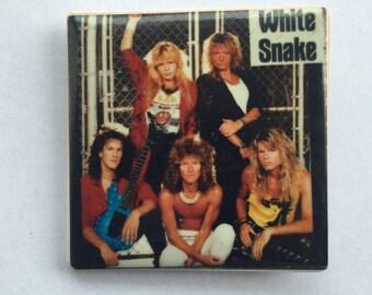 White Snake Original 1980s Vintage Dead Stock Square Pin