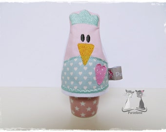 Egg - chicken Hilde - heart - pink