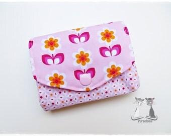 Purse - wallet - Amai - retro flowers of flowers