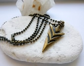 Arrowhead Necklace, Arrow Head Necklace, Unisex Boho Necklace, Hippie Necklace, Layering Necklace, Tribal Necklace, Ethnic Necklace