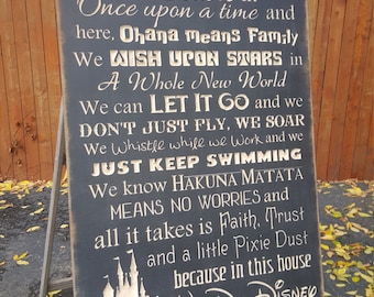 """Personalized Carved Wooden Sign - """"Family, WE DO DISNEY"""""""