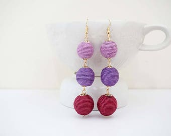 Purple Ombre Statement Earrings