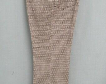 "DEADSTOCK Vintage 70's Disco FLARES Knit Slacks High Waist Hippie Pants Size: 36"" X 31"""