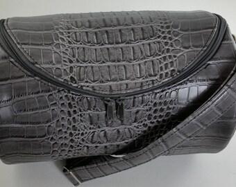 Sale! Grey Mock Croc Small Barrel Bag, Ladies Shoulder Bag